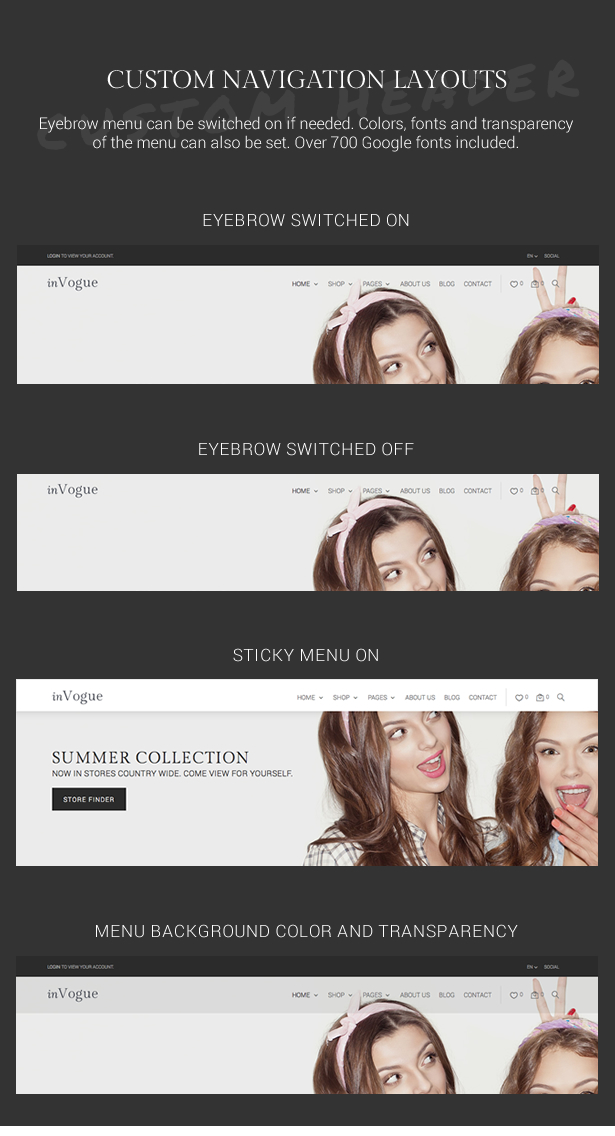 inVogue - WordPress Fashion Shopping Theme - 11